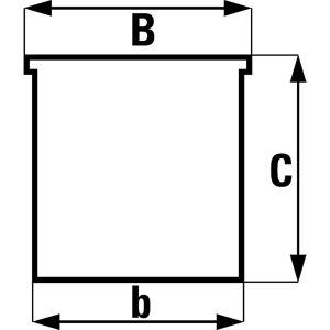 Magazijnbak van polyethyleen, l x b x h = 485 x 298 x 189 mm