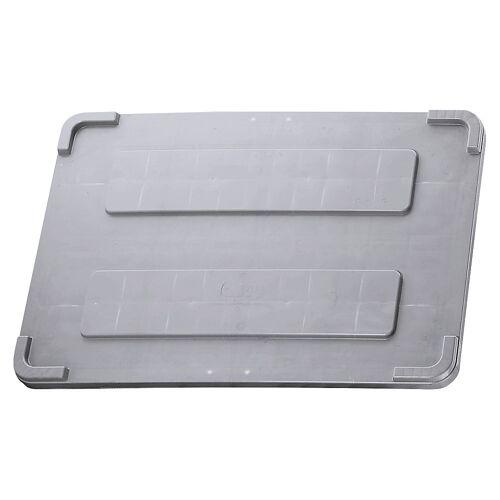 Deksel voor grote bak met overstekende rand, grijs