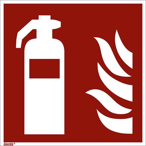 Borden voor brandbeveiliging, brandblusser, VE = 10 stuks