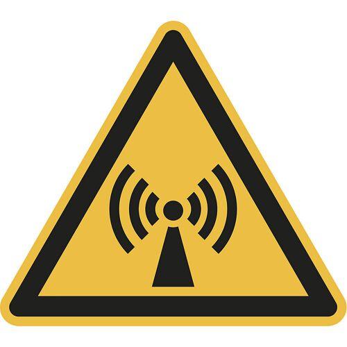 Waarschuwingsbord, waarschuwing voor niet-ioniserende, elektromagnetische straling, VE = 10 stuks