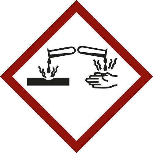 Markering voor gevaarlijke stoffen, bijtende stoffen, VE = 10 stuks