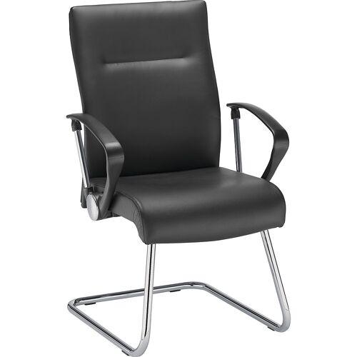 Bezoekersstoel, zwart