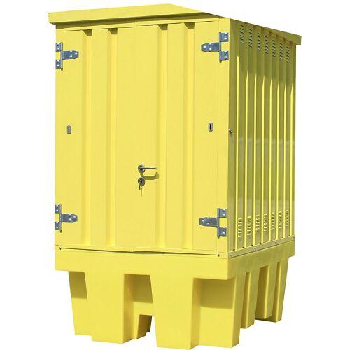 QUIPO Depot voor gevaarlijke stoffen van staal/PE, voor 1 IBC/KTC-container van 1000 l, inhoud 1100 l QUIPO