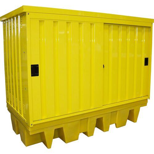 QUIPO Depot voor gevaarlijke stoffen van staal/PE, voor 2 IBC/KTC-container van 1000 l, inhoud 1140 l QUIPO
