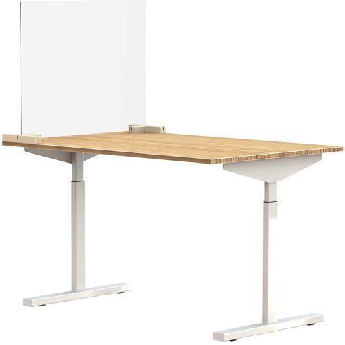 Scheidingsscherm voor bureaus/tafels, incl. 2 verbindingsstukken in T-vorm