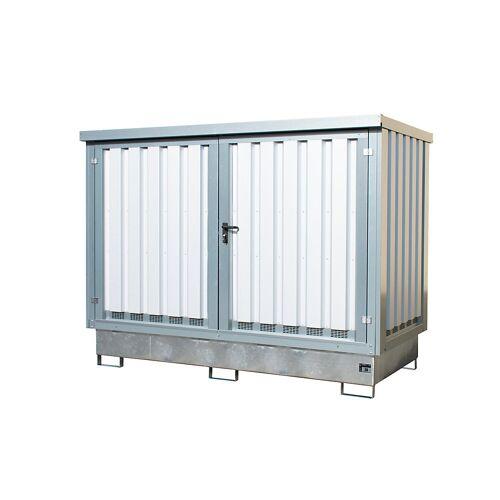 EUROKRAFTpro Stalen depot voor gevaarlijke stoffen, voor 2 IBC/KTC-containers van 1000 l EUROKRAFTpro
