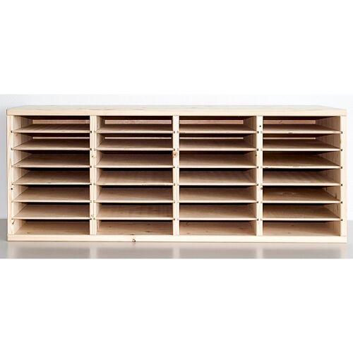 A4-formulierblok van hout, 28 vakken
