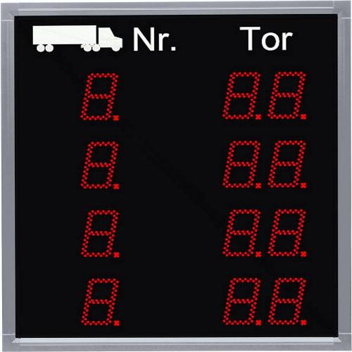LED-indicatie, oproep vrachtwagen, h x b x d = 760 x 700 x 85 mm