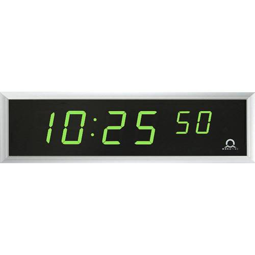 LED digitale klok, h x b x d = 118 x 423 x 39 mm