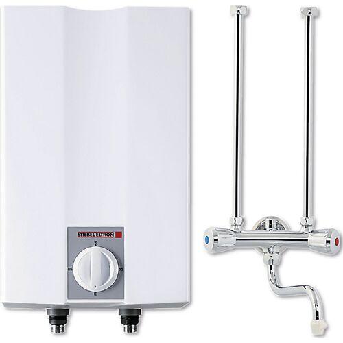 Warmwatertank, drukloos, kraan met twee grepen, bovenbouwapparaat