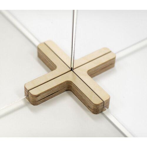 Verbindingsstuk voor scheidingsschermen, kruisvorm, 4-wegs