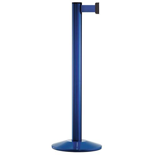 Afzetpaal, aluminium, blauw