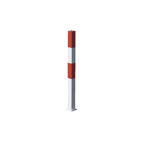 Afzetpaal van staal, voor in gegoten beton, 70 x 70 mm