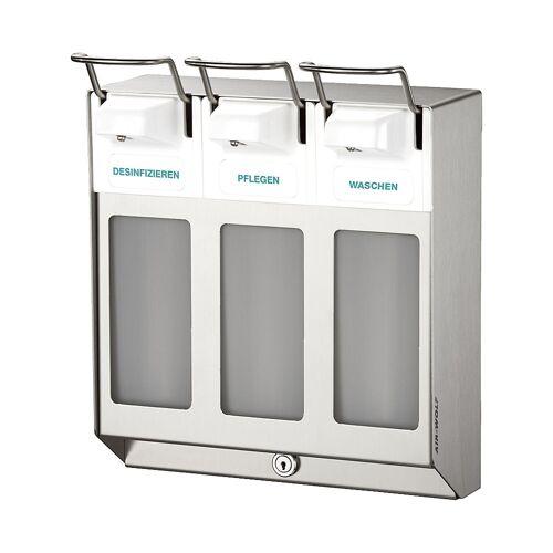 AIR-WOLF Rij-dispenser, met 3 dispensers à 1000 ml AIR-WOLF