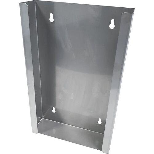 Roestvast stalen dispenser voor dispenserdozen, h x b x d = 350 x 222 x 65 mm