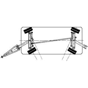 Zwaarlastaanhanger, 20 t, alle wielen met fusee-assen-besturing