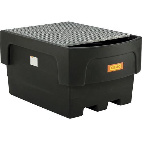 CEMO PE-opvangbak voor tankcontainers IBC/KTC, voor 1 x IBC/KTC-container met aftapopzet CEMO