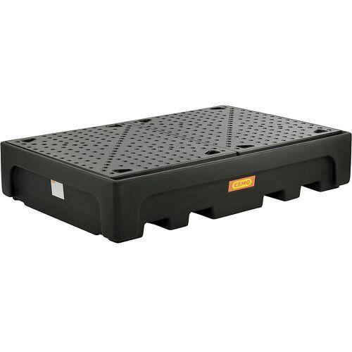 CEMO PE-opvangbak voor tankcontainers IBC/KTC, voor 2 x IBC/KTC-container CEMO