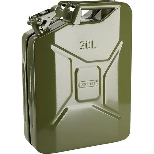 PRESSOL Metalen brandstof jerrycan, inhoud 20 l, VE = 5 stuks PRESSOL