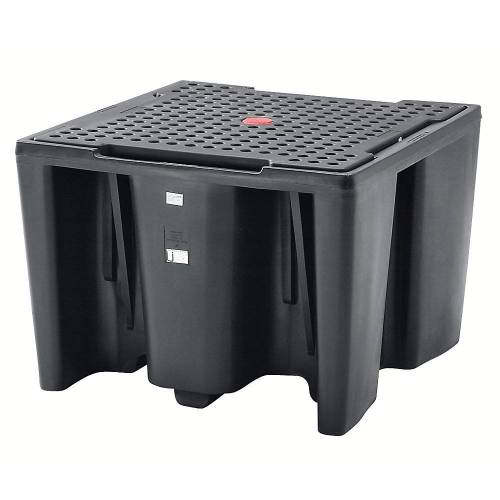 PE-opvangbak voor tankcontainers IBC/KTC, capaciteit 1 tankcontainer