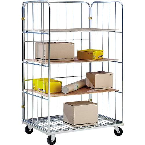 Transport- en displaycontainer, 3 etagevlakken