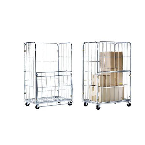 Transport- en displaycontainer, voorwand neerklapbaar