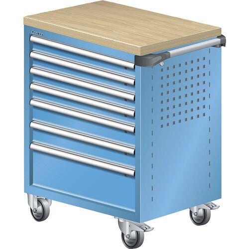 LISTA Werkplaatswagen, met houtafdekking van multiplex 40 mm LISTA