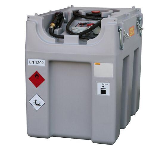 CEMO DT-Mobil Easy tankinstallatie voor diesel, inhoud 600 l, met elektrische pomp 12 V, 40 l/min CEMO