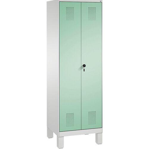 CP Kast voor interieurverzorging/apparaten van EVOLO, verkorte middenwand, 6 haken, 2 afdelingen van 300 mm, met poten CP