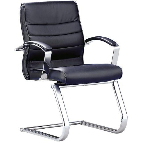 Topstar Bezoekersstoel, zwart leer Topstar