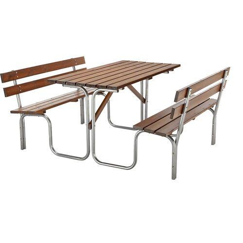 Zitbank voor groepen, tafel en 2 zitbanken