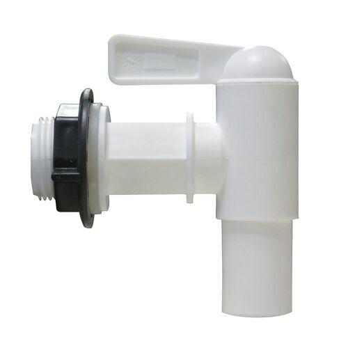 Kunststof aftapkraan, nominale diameter 18 mm