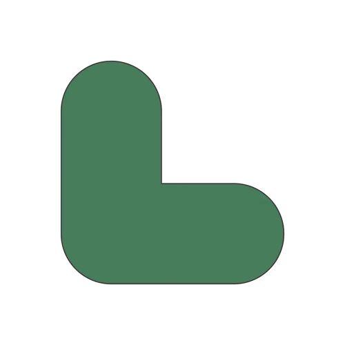 PVC-vloermarkeringen, L-vorm, VE = 10 st.