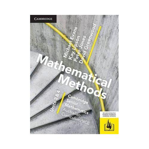 CSM VCE Mathematical Methods Units 3 and 4 by Michael Evans