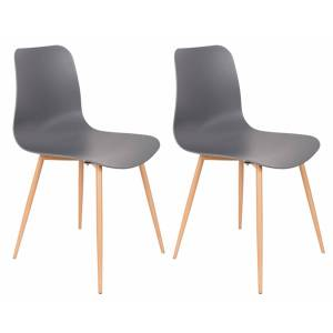 Rustic and Bear Kantinestoel Leon - Set van 2 stoelen - Grijs