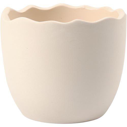 Bloempot   Wit terracotta   6.3 cm