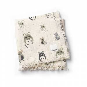 Elodie Details Soft Cotton Blanket - Forest Mouse