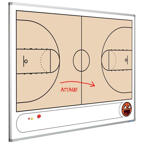 Smit Visual Whiteboard met Basketbalveld - 90 x 120 cm