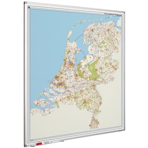 Smit Visual Whiteboard landkaart - Nederland postcodes