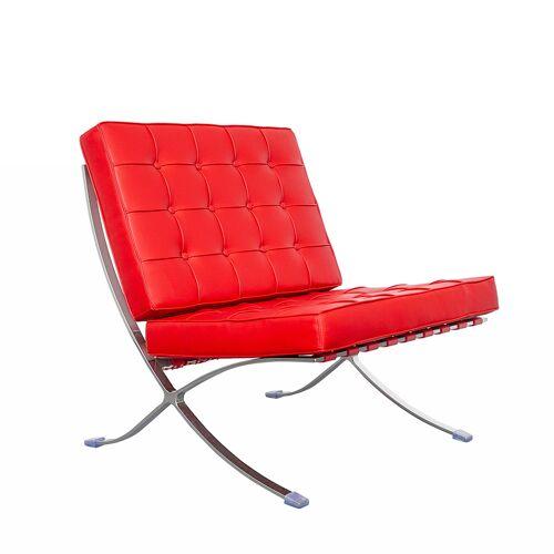 IVOL Barcelona Chair (replica) - Rood