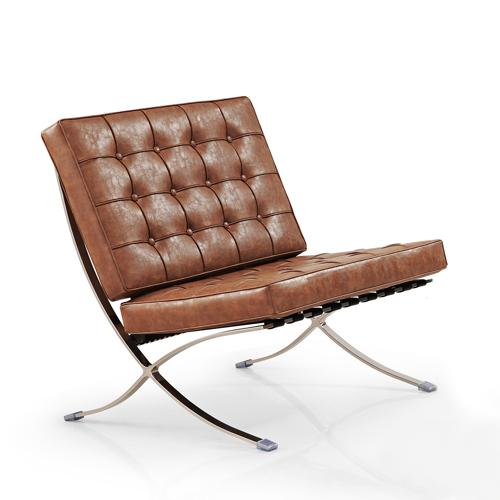 IVOL Barcelona Chair (replica) - Vintage brown