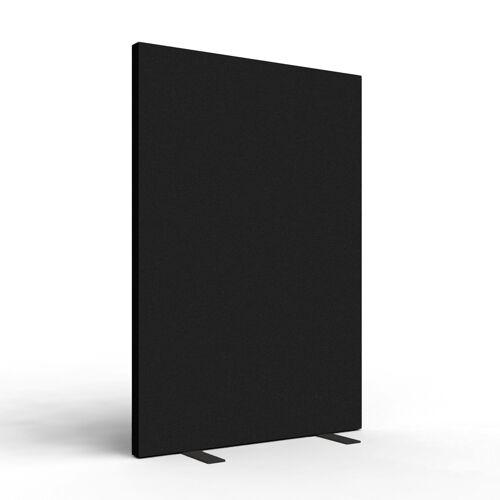 SPACIO akoestische scheidingswand 120x160 cm - Vaste voet - Zwart