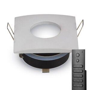 HOFTRONIC™ Set van 14 stuks dimbare LED inbouwspots Garland 4.2 Watt spot IP44  vochtbestendig incl. afstandsbediening