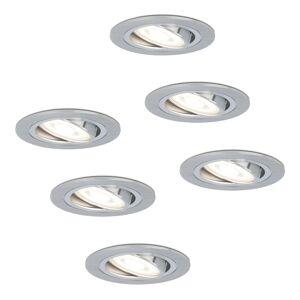 HOFTRONIC™ Set van 6 stuks dimbare LED inbouwspots Chandler met 5 Watt 6000K spot kantelbaar