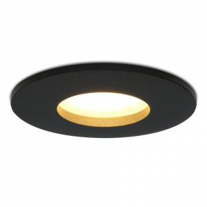 Hoftronic Dimbare LED inbouwspot Porto GU10 5 Watt 2700K IP44 Zwart