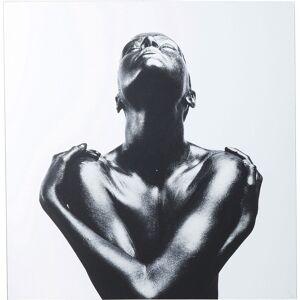 Kare Wandfoto Spiegelglas Athlet 120x120cm