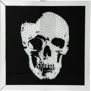 Kare Schilderij Frame spiegel schedel