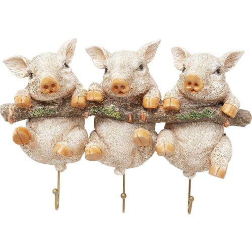 Kare Wandhaken Three Mini Pigs