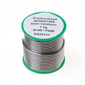 Onbekend Draadsoldeer sn40/pb60 harskern 3mm