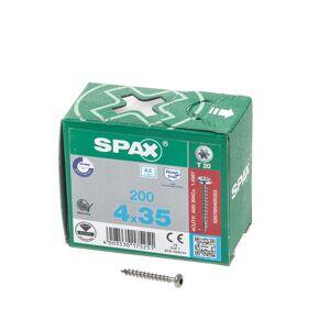 Spax Spaanplaatschroef cilinderkop RVS T-Star T20 4.0x35mm (per 200 stuks)